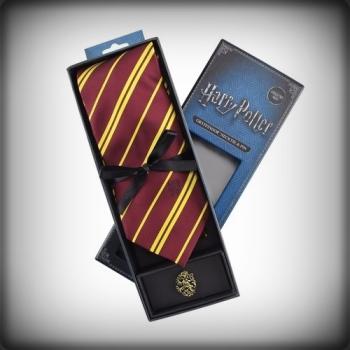 Cravate Deluxe Gryffondor avec pin's - Harry Potter